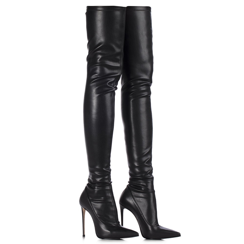 OVERKNEE BOOTS 120mm HIGH HEELS WITH PLATEAU