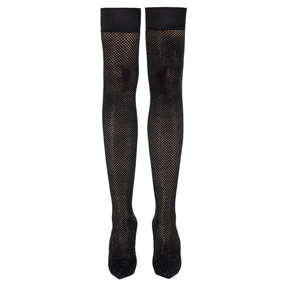 GILDA STRETCH BOOT 120 mm   Black crystals and sock boot
