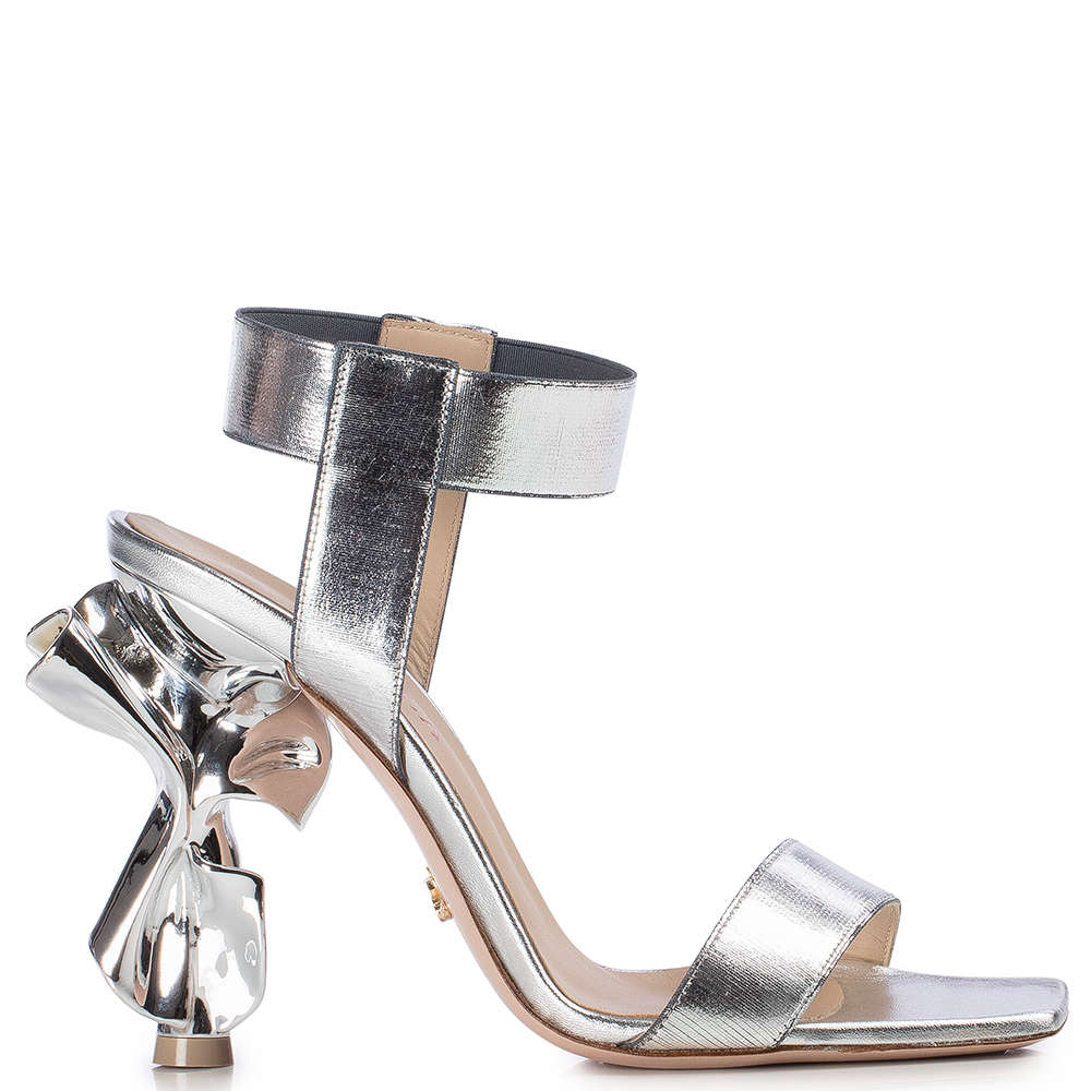Le Silla Candy Sandal 100 Mm In Silver