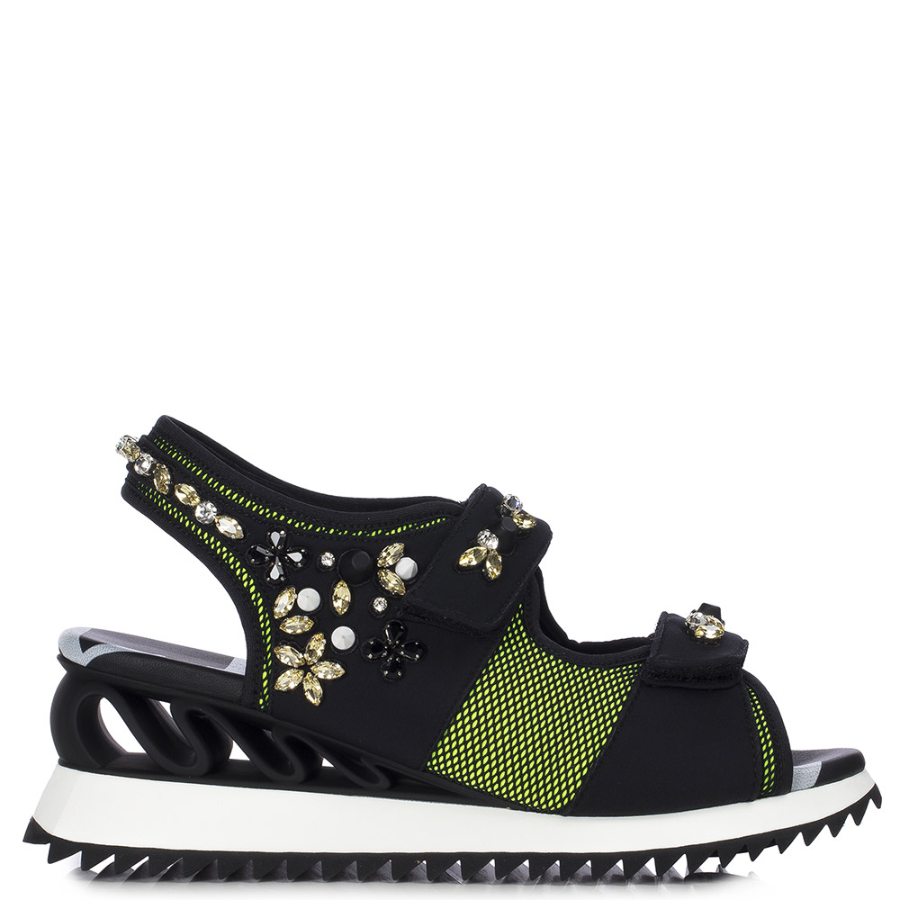Le Silla Yui Sandal In Yellow/Black