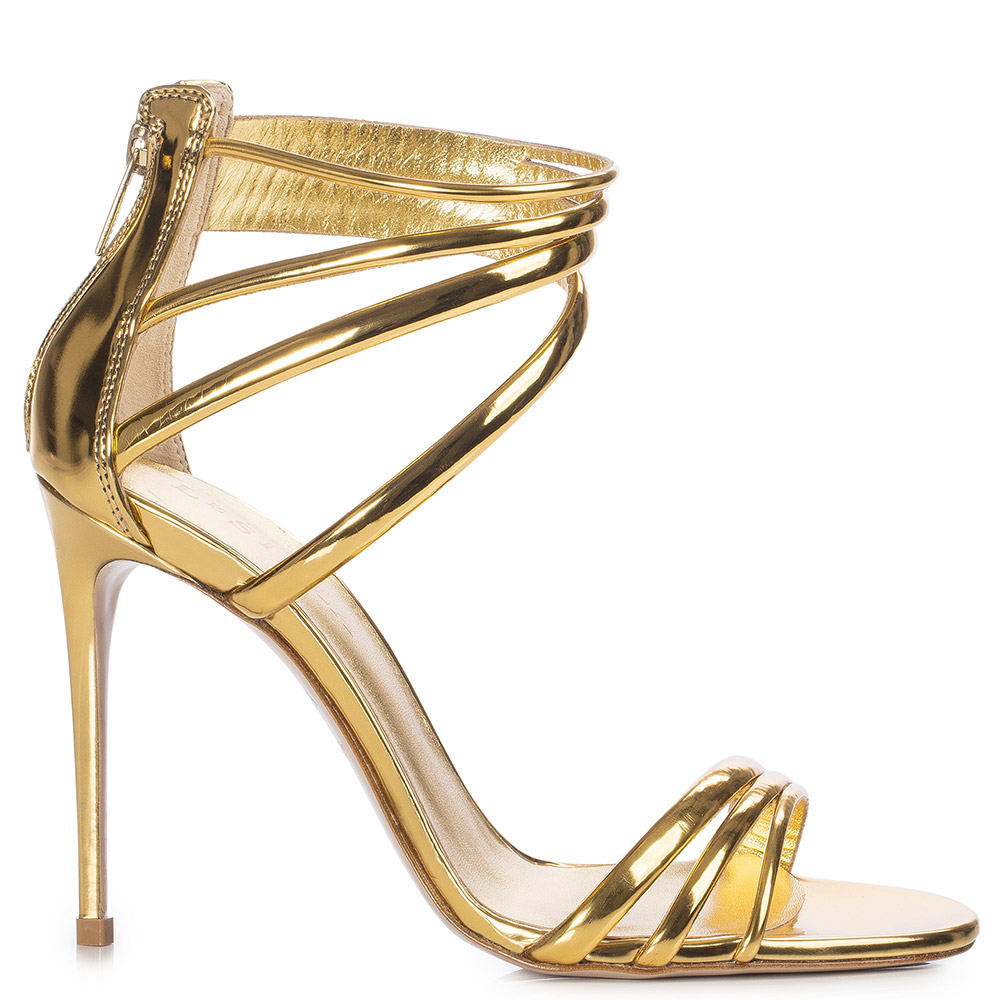 Le Silla Denise Sandal 110 Mm In Gold